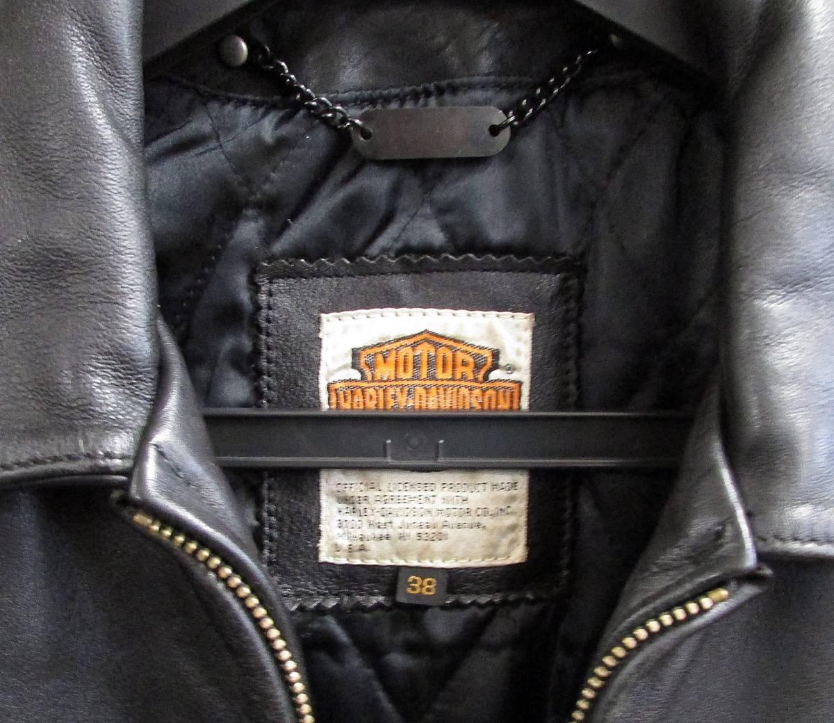 ★Harley Davidson USA Screamin Eagle Club Leather Fringe Biker Jacket 38_画像3
