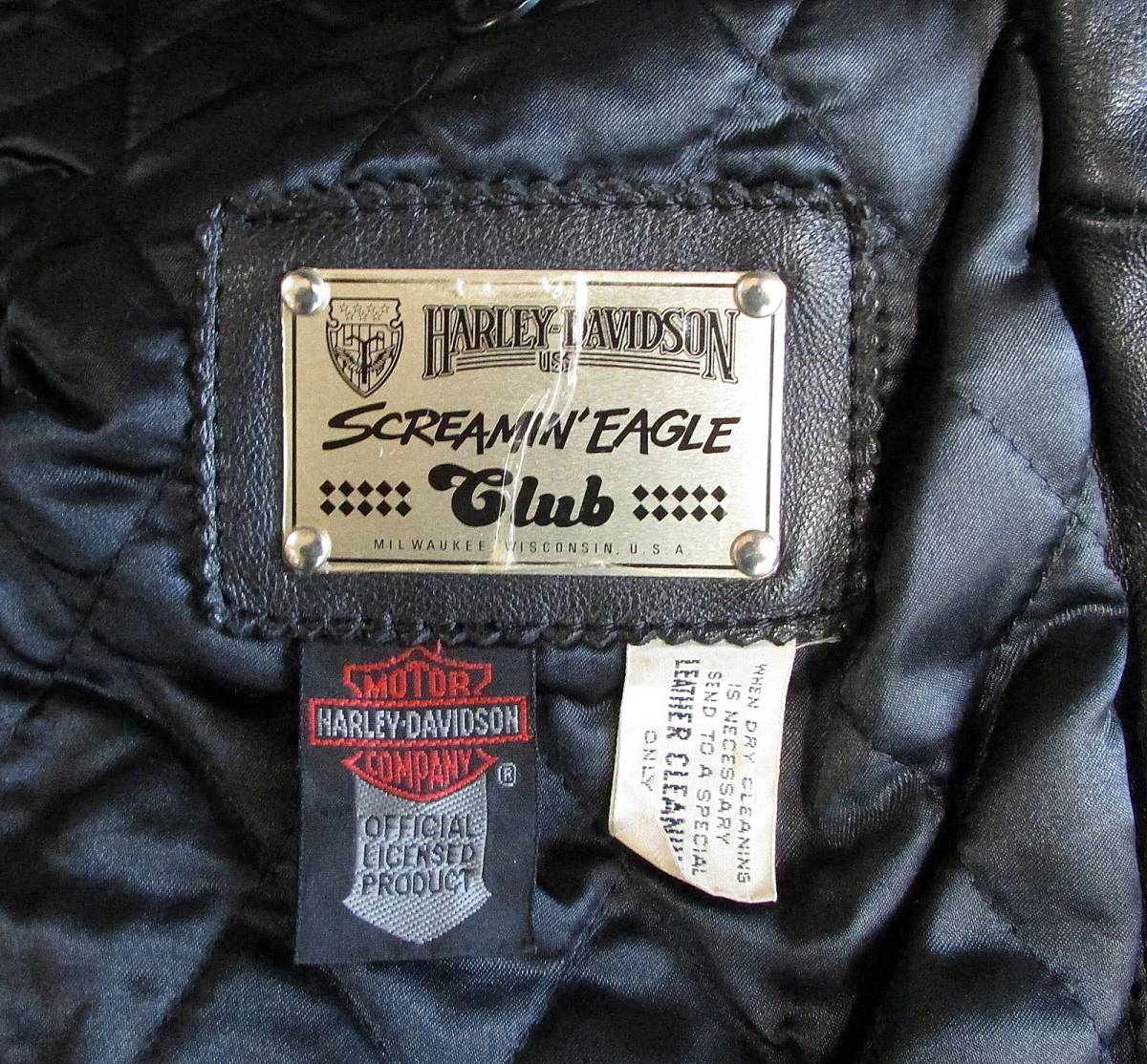 ★Harley Davidson USA Screamin Eagle Club Leather Fringe Biker Jacket 38_画像4