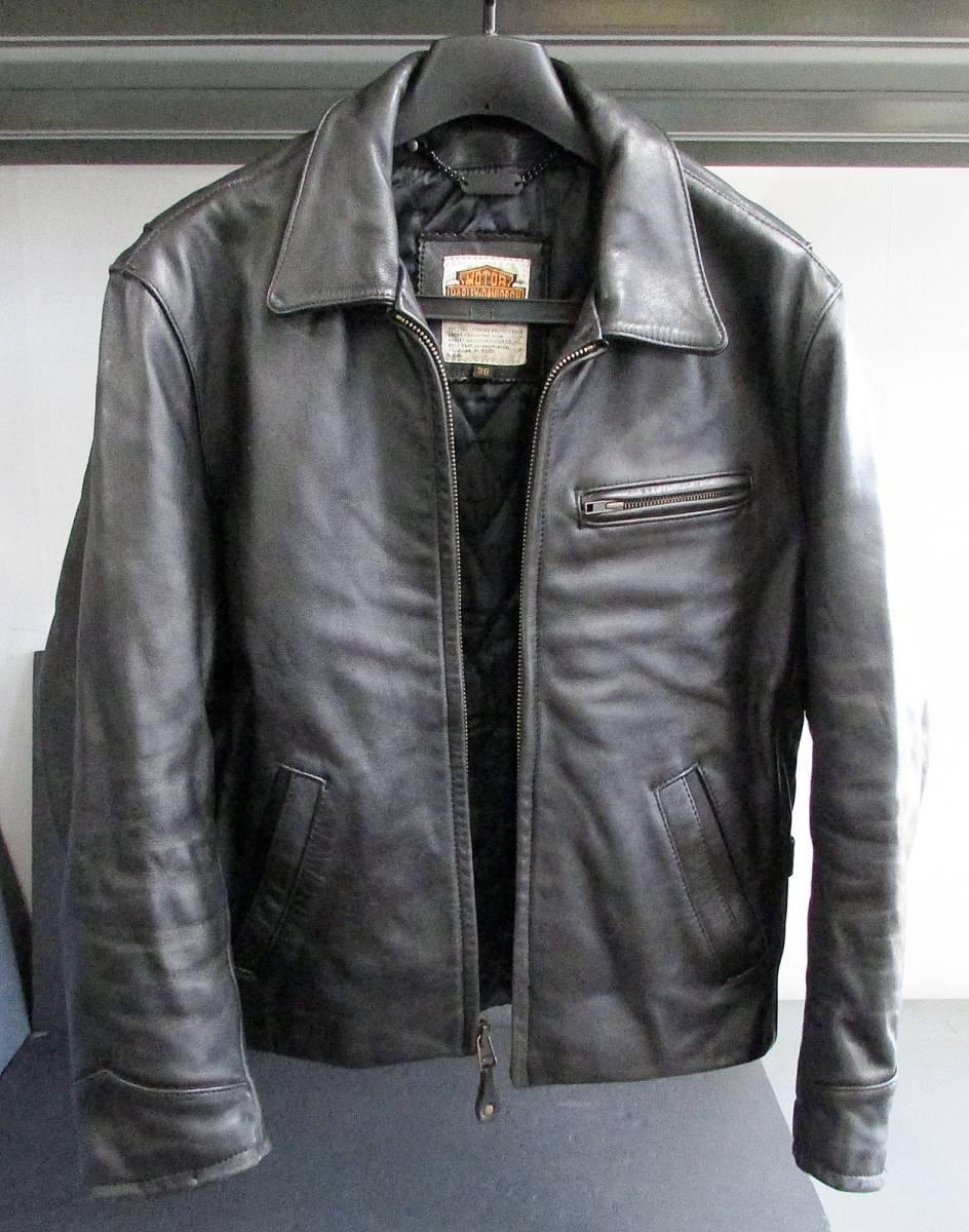 ★Harley Davidson USA Screamin Eagle Club Leather Fringe Biker Jacket 38_画像1