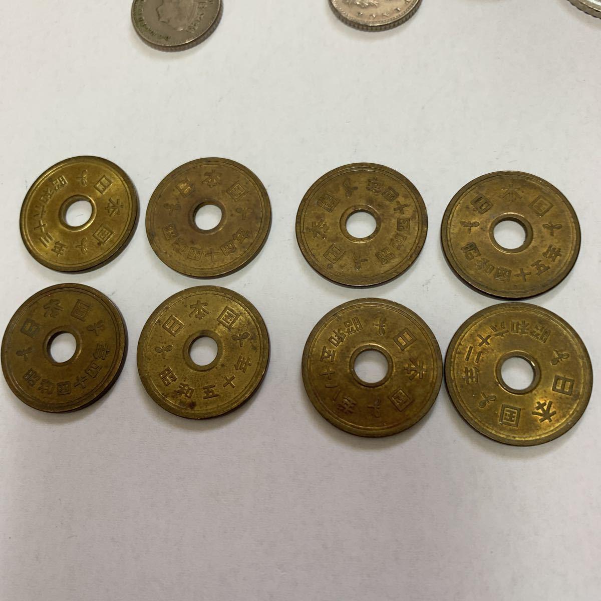 外国旅行した際に持って帰ってきた各国のコインと昭和の5円玉_画像4