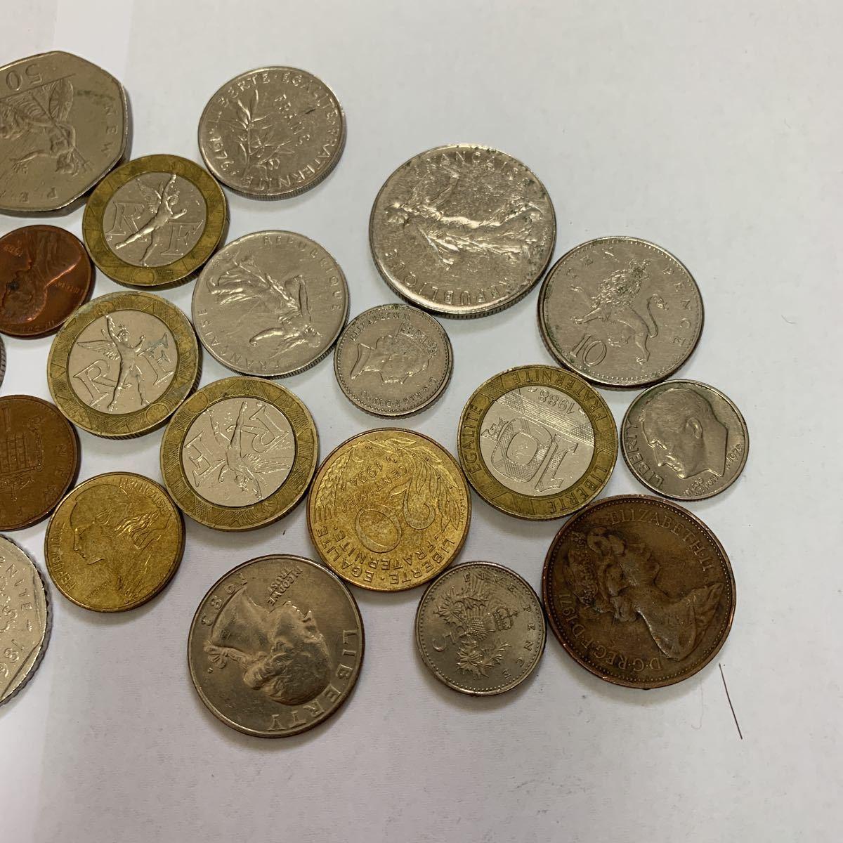 外国旅行した際に持って帰ってきた各国のコインと昭和の5円玉_画像3