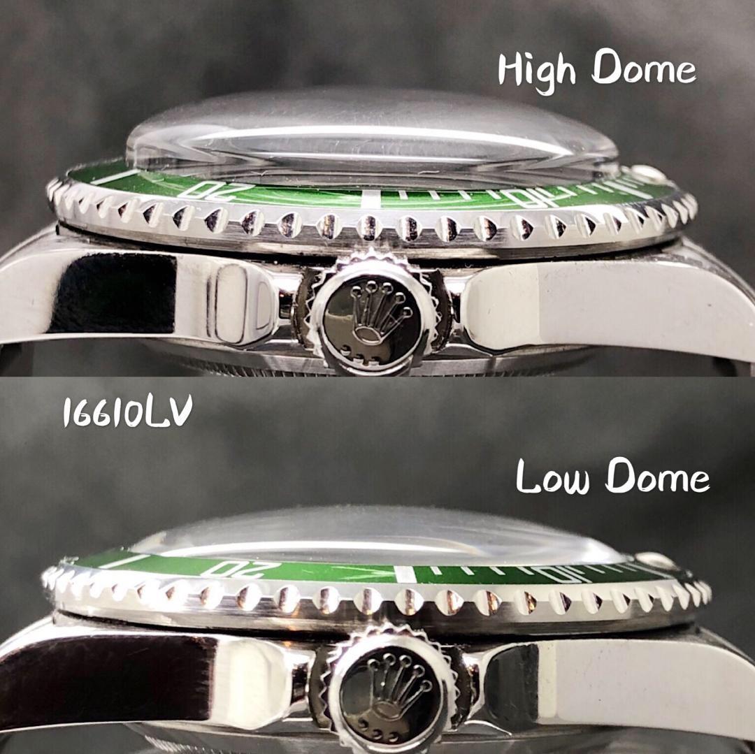 R38 Rolex Submariner low 風防 16610 16800 ロウドーム ロレックス サブマリーナ_画像6