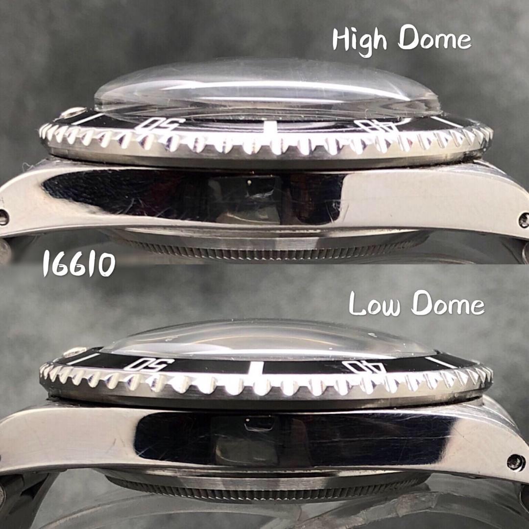 R38 Rolex Submariner low 風防 16610 16800 ロウドーム ロレックス サブマリーナ_画像7
