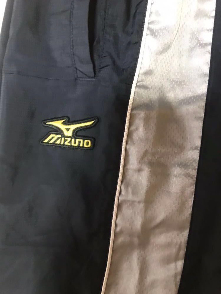 【483】ミズノプロ展示会限定ブレスサーモトレーニングスーツ上下セット ネイビー×シルバーMサイズ中古品_画像8