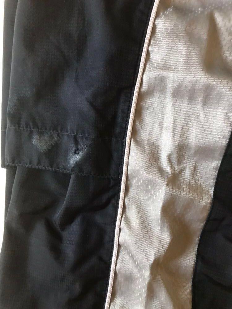 【483】ミズノプロ展示会限定ブレスサーモトレーニングスーツ上下セット ネイビー×シルバーMサイズ中古品_画像9