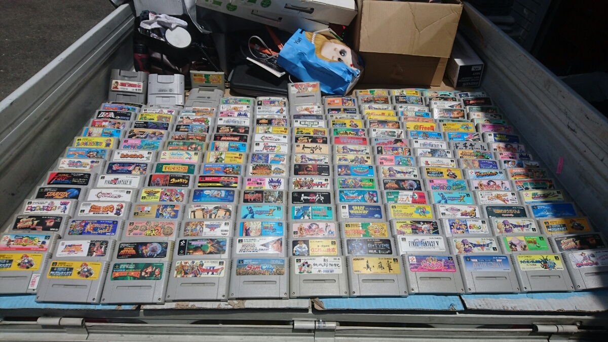 Nintendo SFC スーパーファミコンソフト180本以上まとめ売り 任天堂 マリオ ロックマン ドラクエ 100円