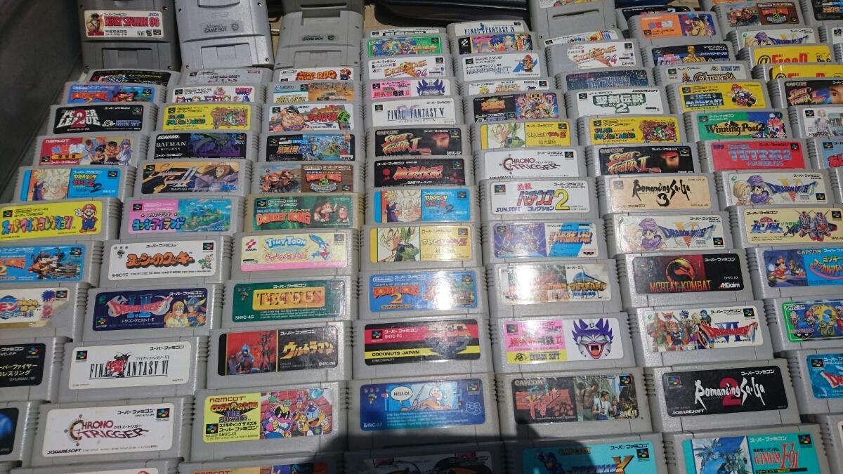Nintendo SFC スーパーファミコンソフト180本以上まとめ売り 任天堂 マリオ ロックマン ドラクエ 100円_画像7