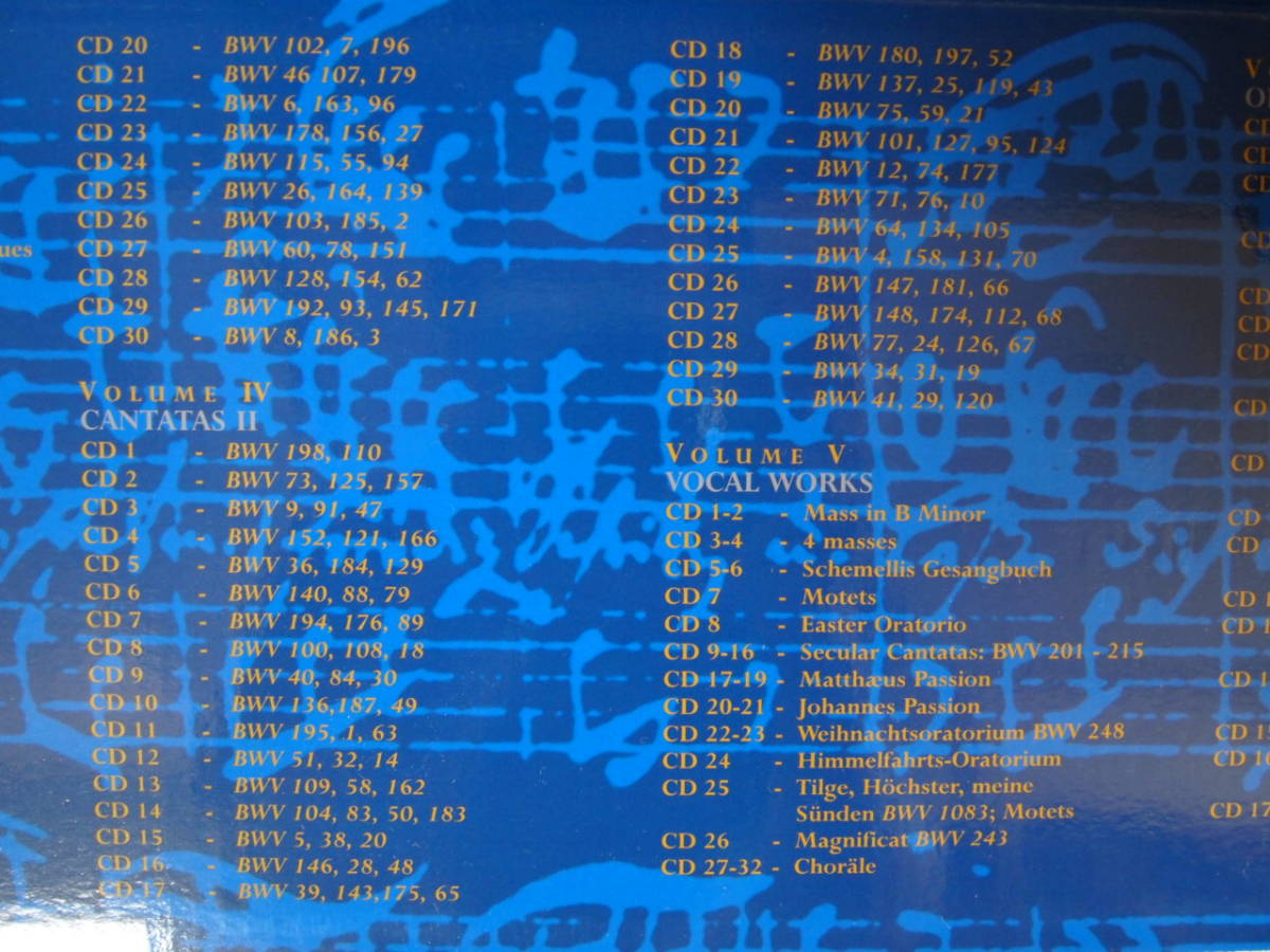 BACH EDITION バッハ大全集(155CD+CD-ROM)中古_画像5
