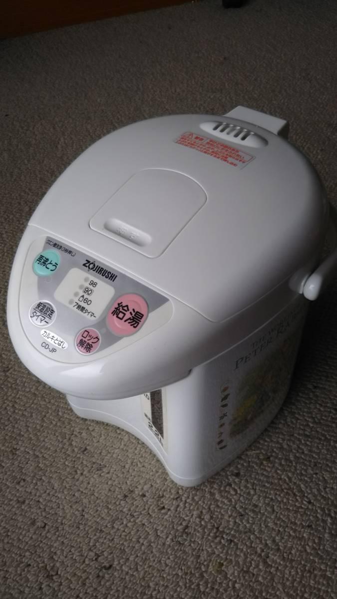 ピーターラビット 象印 マイコン沸とう電動ポット CD-JP22PR型 未使用_画像3