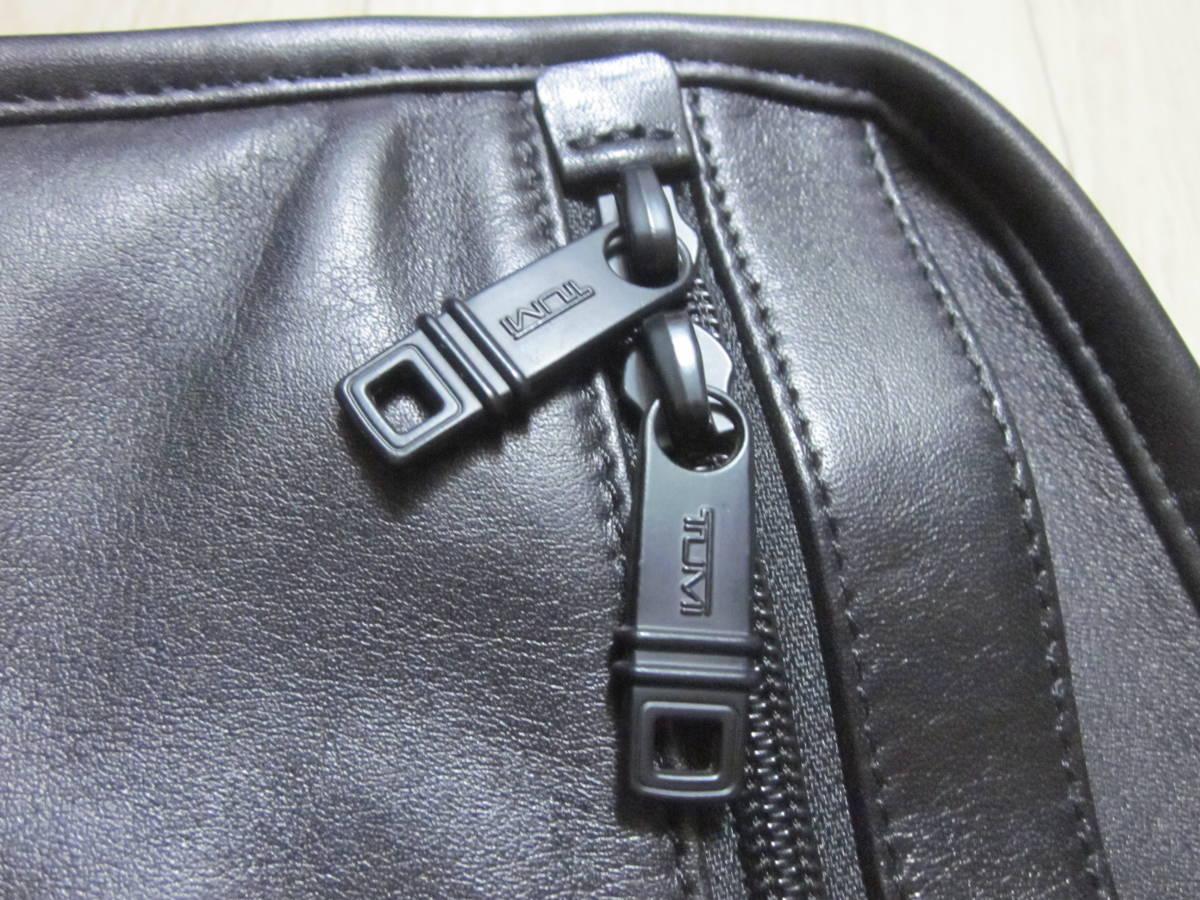 美品 TUMI トゥミ 96111 DH ALPHA スリム・ラージ・スクリーン・レザー・ポートフォリオ・ブリーフ 書類かばん ブラック 黒_画像10