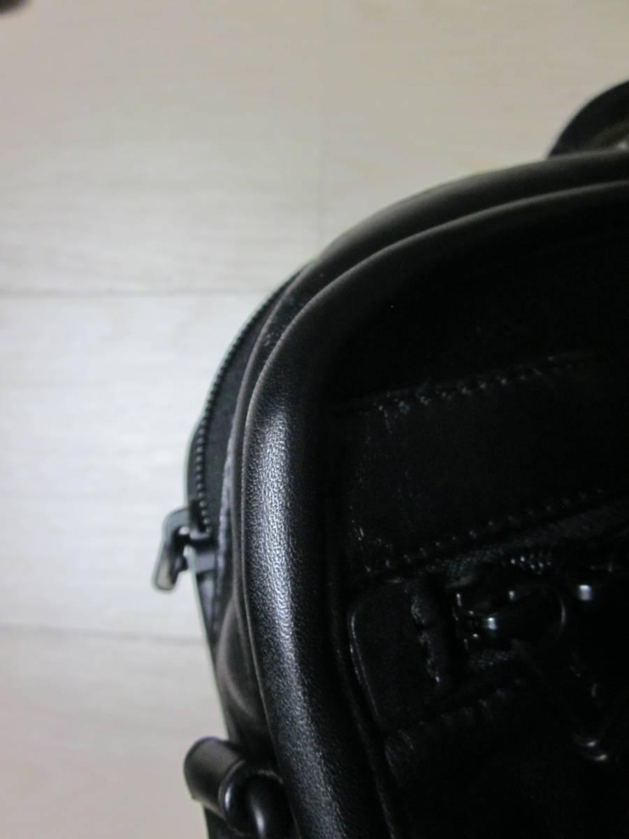 美品 TUMI トゥミ 96111 DH ALPHA スリム・ラージ・スクリーン・レザー・ポートフォリオ・ブリーフ 書類かばん ブラック 黒_画像9