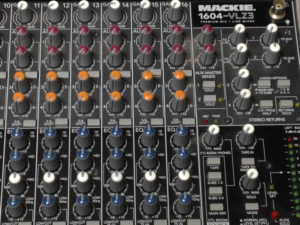 ◆完動美品!◆MACKIE 1604-VLZ3◆高音質ミキサー◆ _画像2