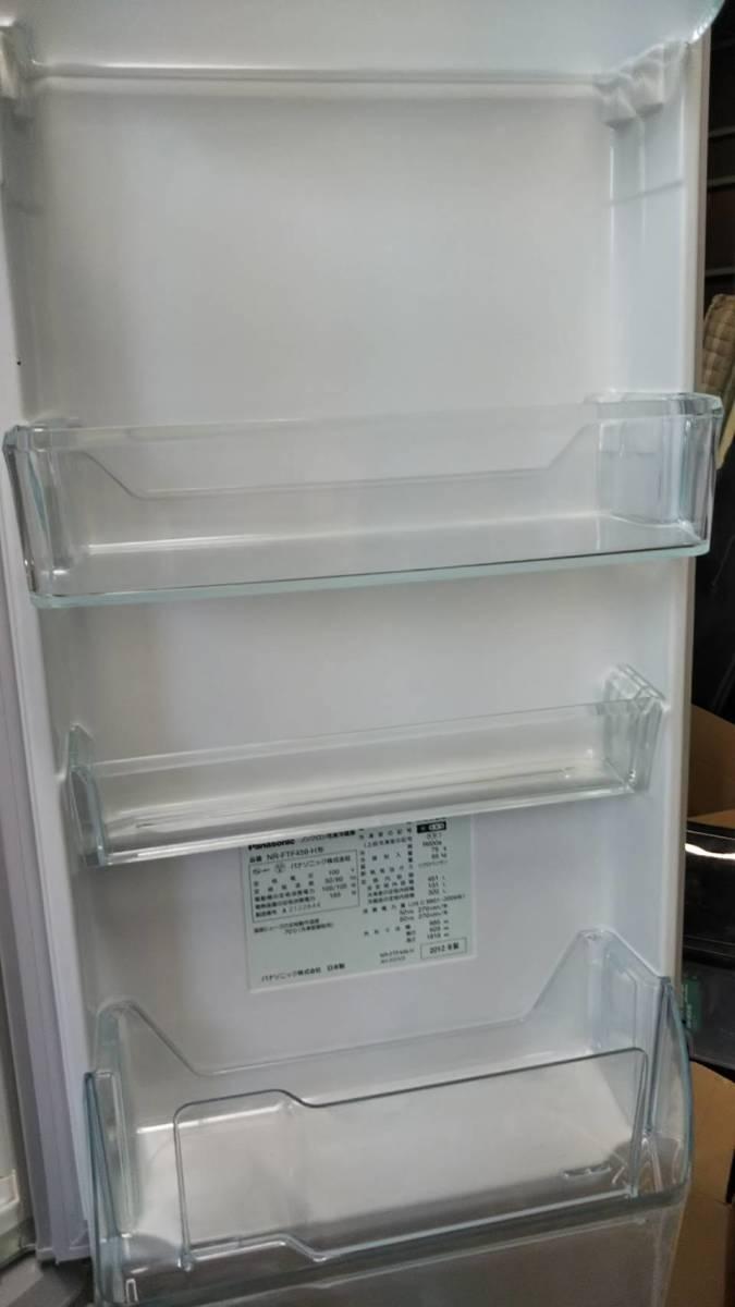 直接引取可能 パナソニックトップユニット外して洗える製氷皿冷蔵庫 NR-FTF456_画像3