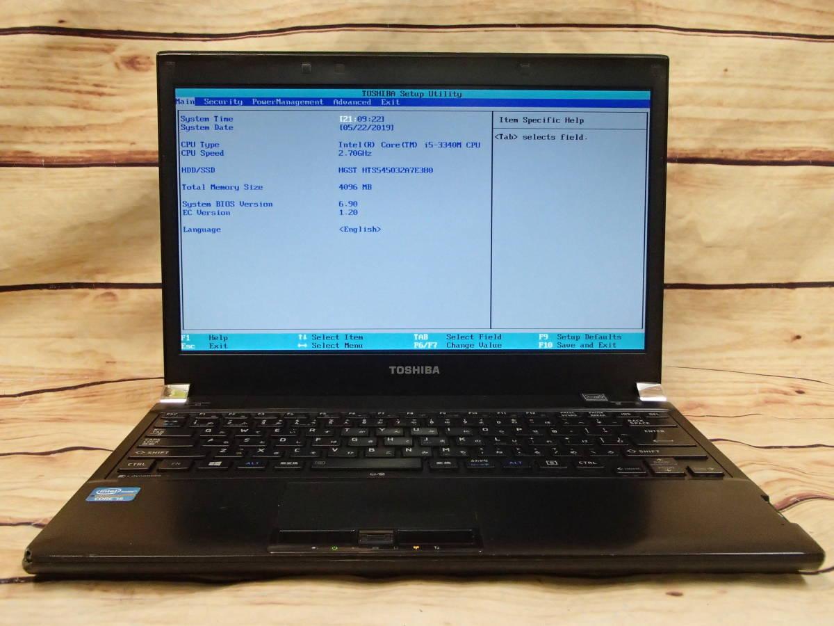 □東芝 dynabook R732/H□Core i5-3340M/4GB/320GB/13.3インチHD/ジャンク□_画像2