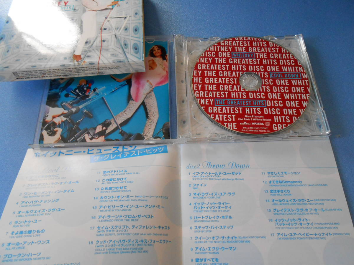 CD ◆ホイットニー・ヒューストン 「ザ・グレイテスト・ヒッツ」 2枚組   ◆国内盤   管理A_画像3