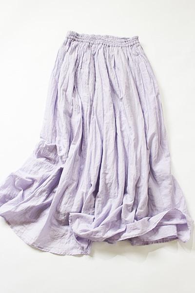 ジャーナルスタンダード JOURNAL STANDARD relume コットン100% ラベンダーカラーエアリーなロングスカート size F_画像2