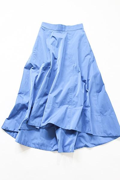 新品タグ付き アナイ ANAYI サイドZIP ポケット付き 綺麗なブルーカラー コットンブレンドスカート_画像2