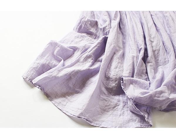 ジャーナルスタンダード JOURNAL STANDARD relume コットン100% ラベンダーカラーエアリーなロングスカート size F_画像5