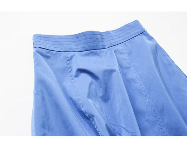 新品タグ付き アナイ ANAYI サイドZIP ポケット付き 綺麗なブルーカラー コットンブレンドスカート_画像4