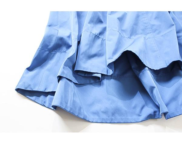 新品タグ付き アナイ ANAYI サイドZIP ポケット付き 綺麗なブルーカラー コットンブレンドスカート_画像5