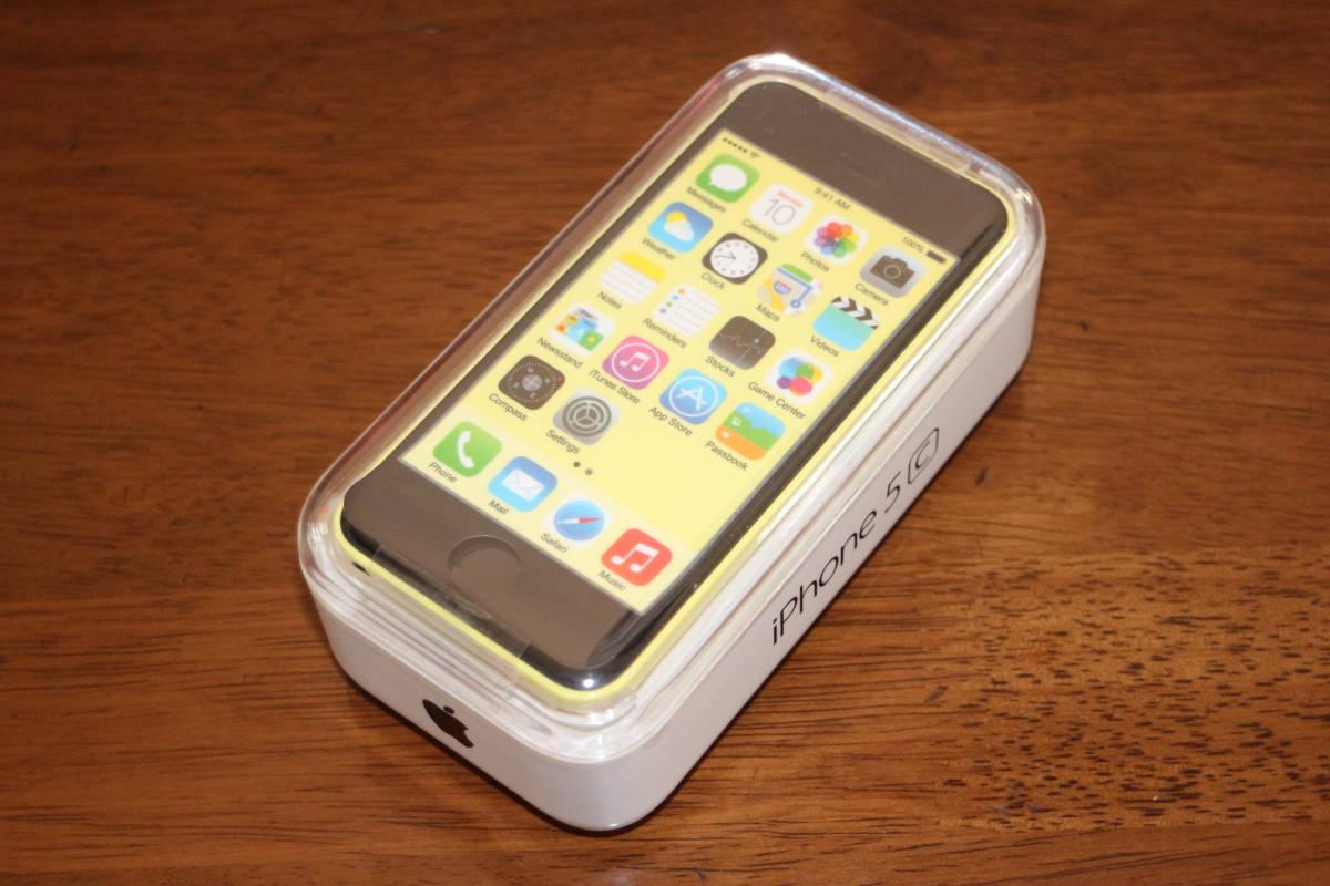 ☆新品同様・未開封☆ アップル Apple iPhone 5c 32GB A1532 イエロー SIMフリー 並行輸入品 日本語完全対応