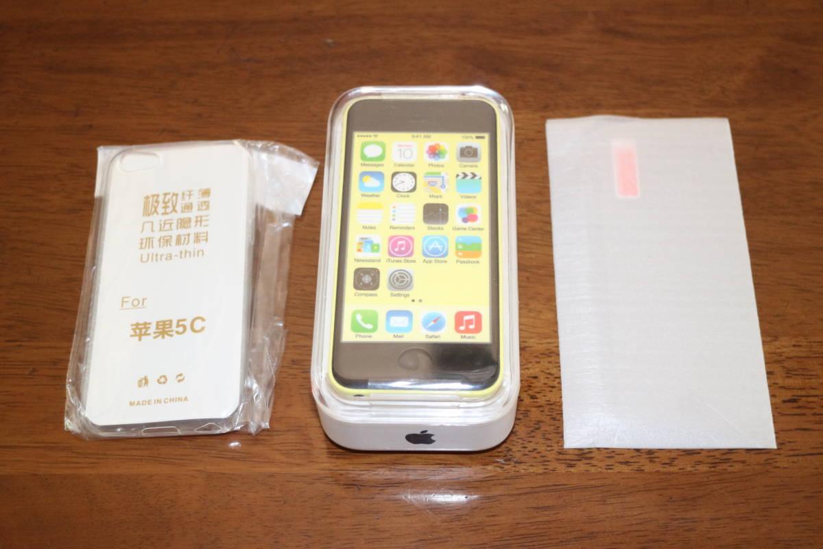 ☆新品同様・未開封☆ アップル Apple iPhone 5c 32GB A1532 イエロー SIMフリー 並行輸入品 日本語完全対応 _画像5