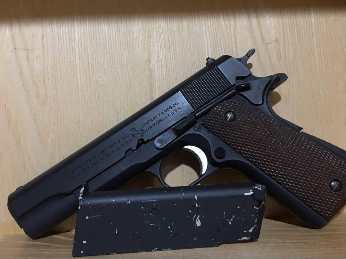 まとめ売り 2丁 東京マルイ コルト M1911A1 カスタム品 リアル塗装 スライドストップ加工 SIG P226 シルバーモデル 18歳以上 作動確認済み_画像4