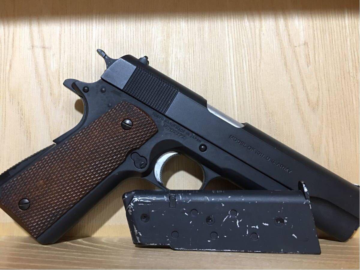 まとめ売り 2丁 東京マルイ コルト M1911A1 カスタム品 リアル塗装 スライドストップ加工 SIG P226 シルバーモデル 18歳以上 作動確認済み_画像5