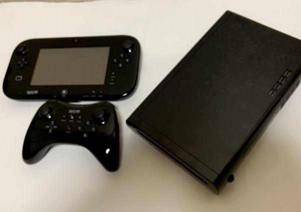 動作確認済み★中古本体 ワイヤレスPROプロコントローラー GamePadゲームパッド【Wii U】モンスターハンター3 トライG HD Ver. 32G 黒 _画像3