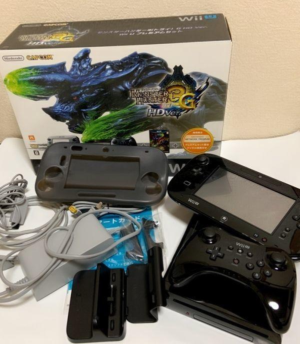 動作確認済み★中古本体 ワイヤレスPROプロコントローラー GamePadゲームパッド【Wii U】モンスターハンター3 トライG HD Ver. 32G 黒 _画像2