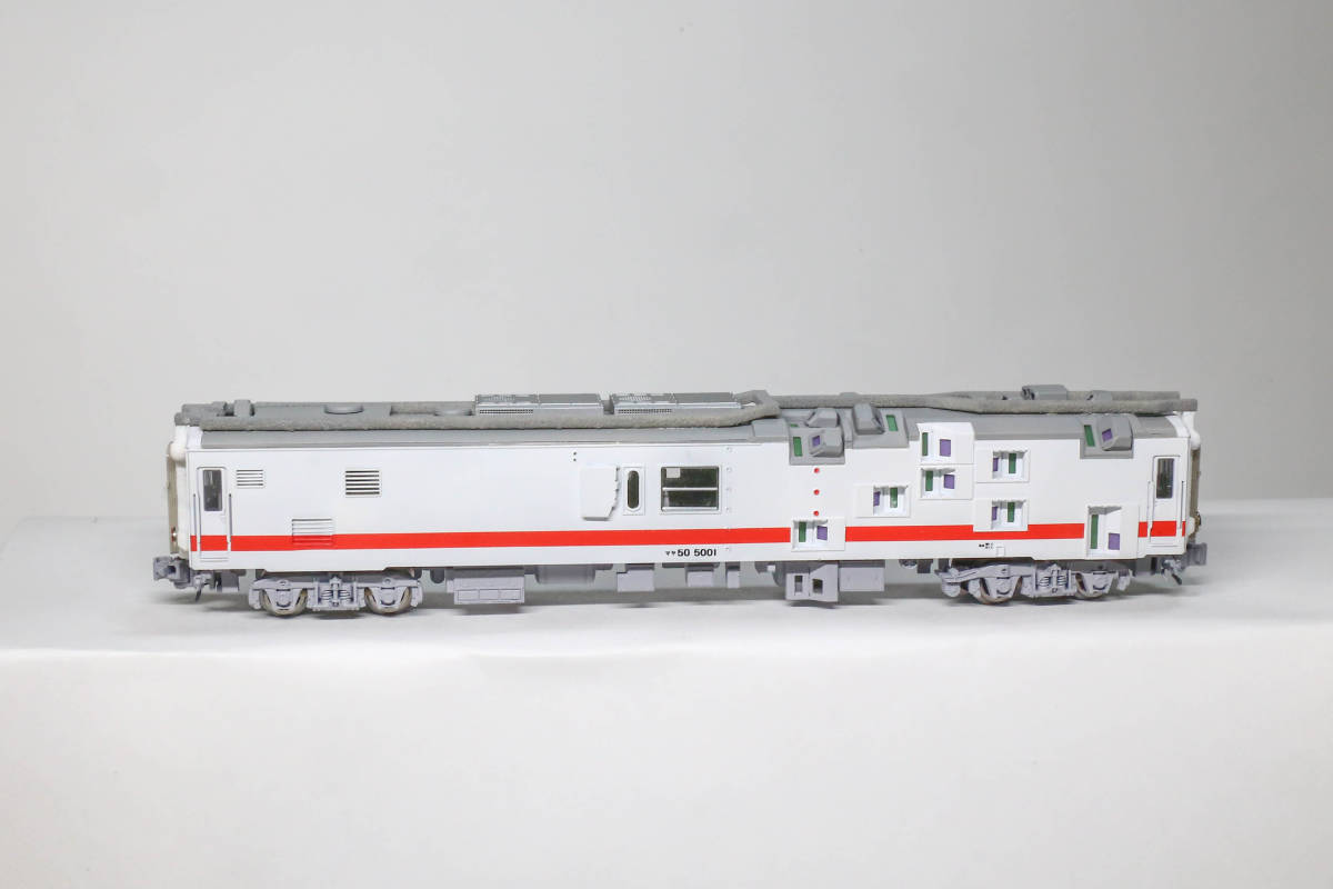 建築限界測定車 マヤ50 5001 コンバージョンキットベース加工品_画像5