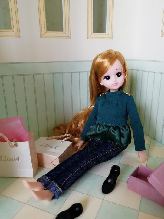 リカちゃん ドールハウス 1/6ドールサイズ 手描き 爽やかなミント&クリーム _画像7