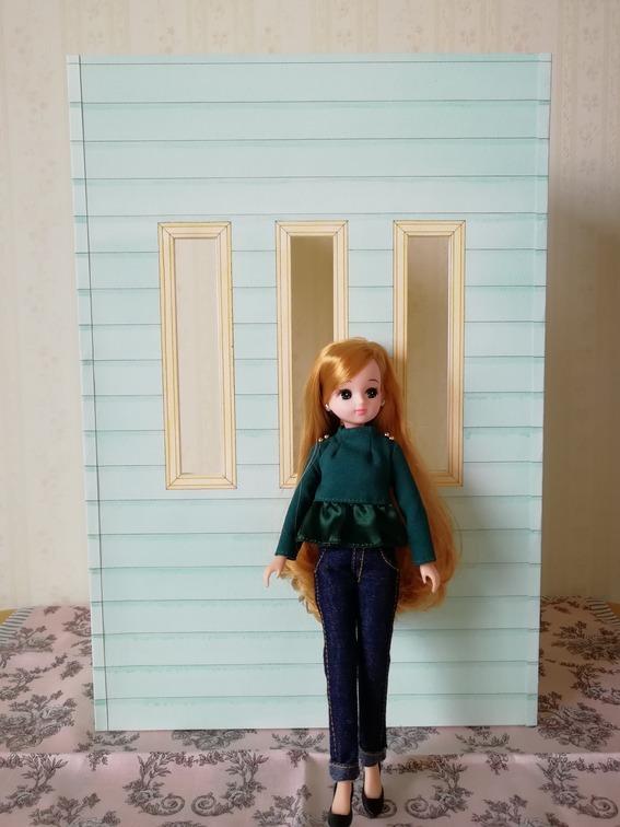 リカちゃん ドールハウス 1/6ドールサイズ 手描き 爽やかなミント&クリーム _画像3