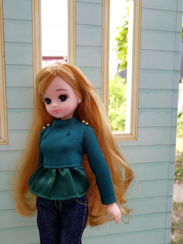 リカちゃん ドールハウス 1/6ドールサイズ 手描き 爽やかなミント&クリーム _画像6