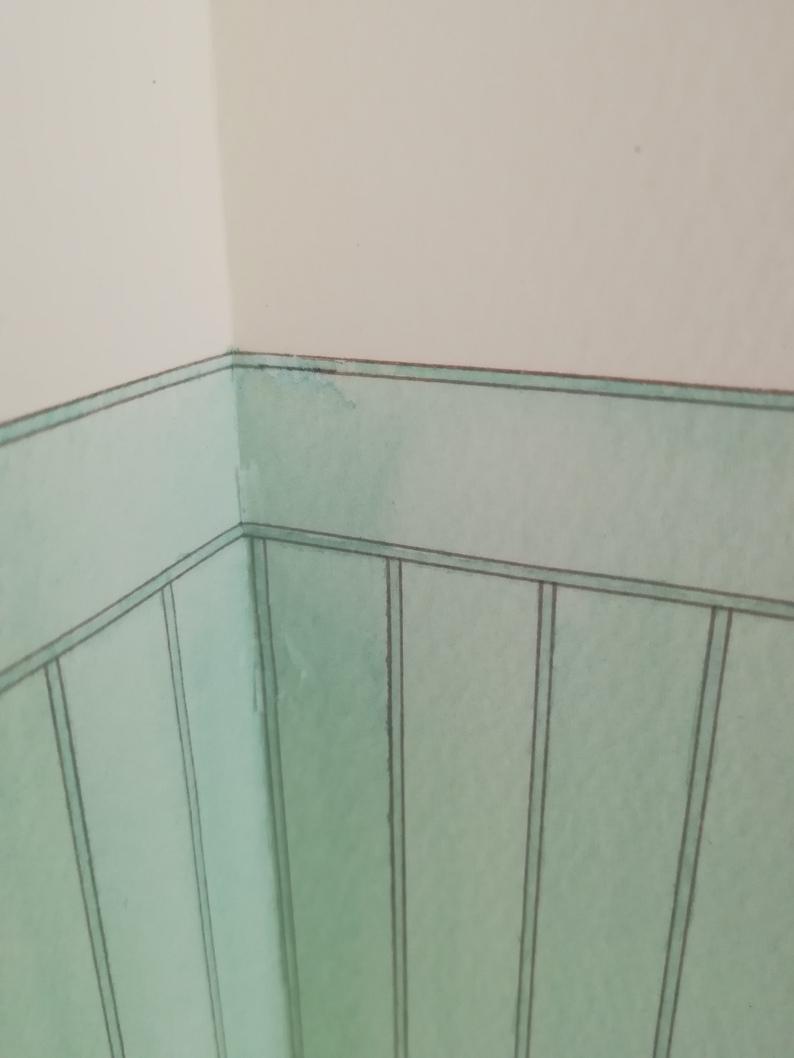 リカちゃん ドールハウス 1/6ドールサイズ 手描き 爽やかなミント&クリーム _画像8