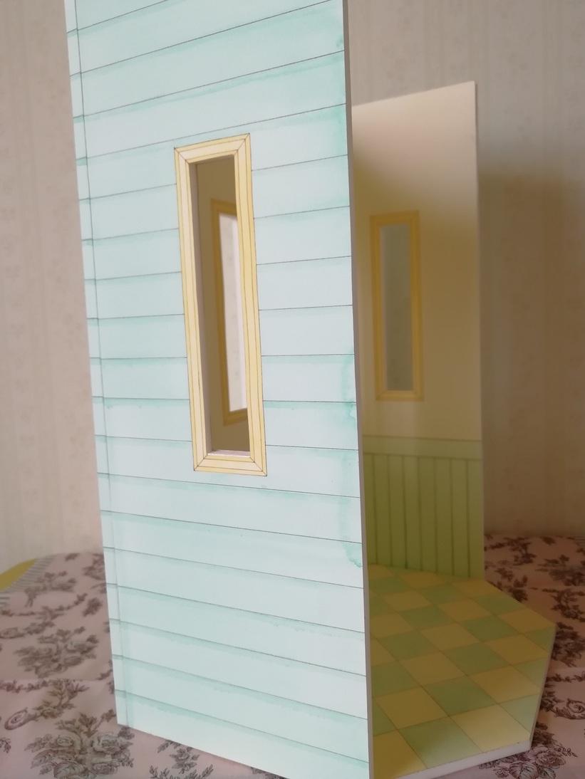 リカちゃん ドールハウス 1/6ドールサイズ 手描き 爽やかなミント&クリーム _画像4