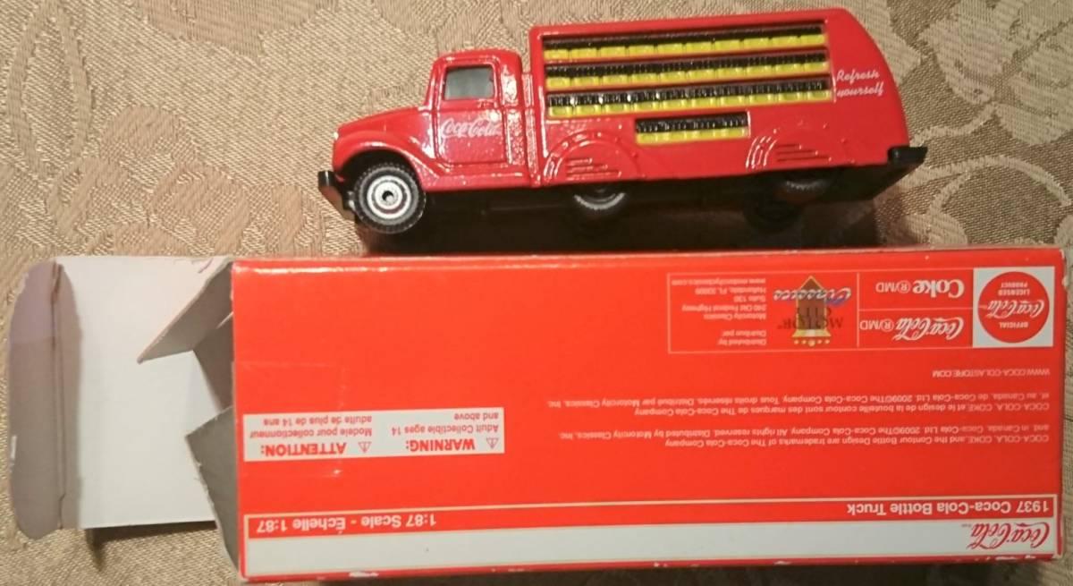 企業ノベルティ NIGO BEAMS HUMAN MADE Coca Cola コカ・コーラ 1937 Bottle Truck 1/87 MOTOR CITY CLASSICS 箱入り未使用保管品 激レア_画像3