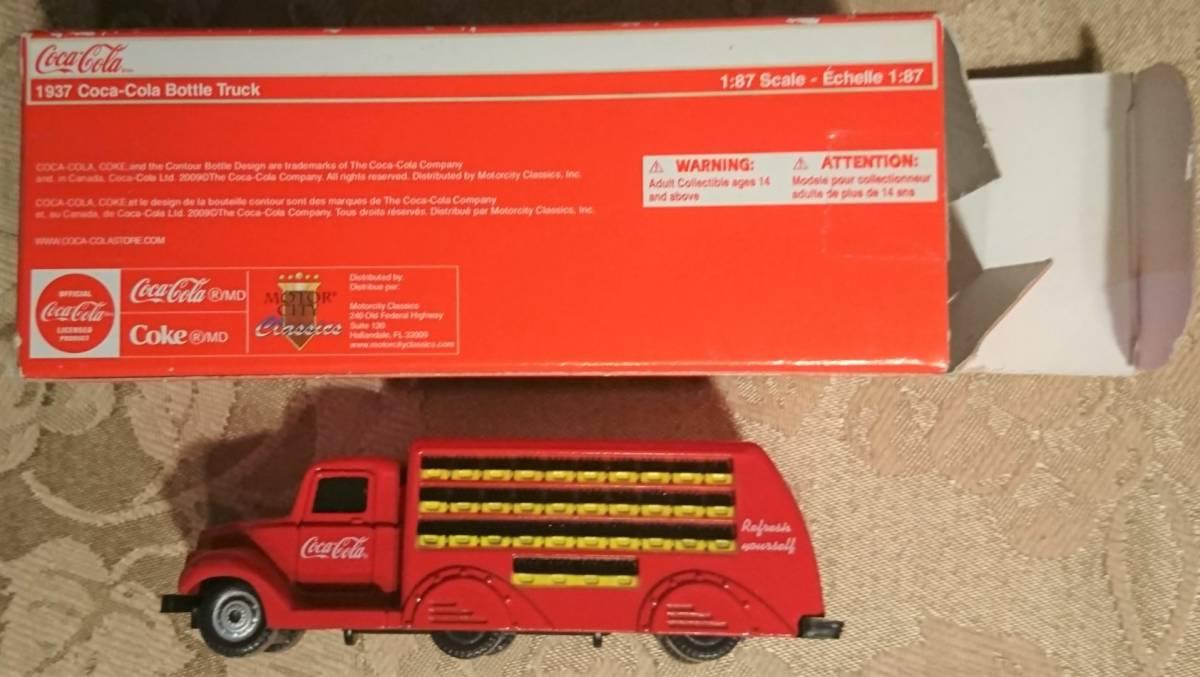 企業ノベルティ NIGO BEAMS HUMAN MADE Coca Cola コカ・コーラ 1937 Bottle Truck 1/87 MOTOR CITY CLASSICS 箱入り未使用保管品 激レア_画像4