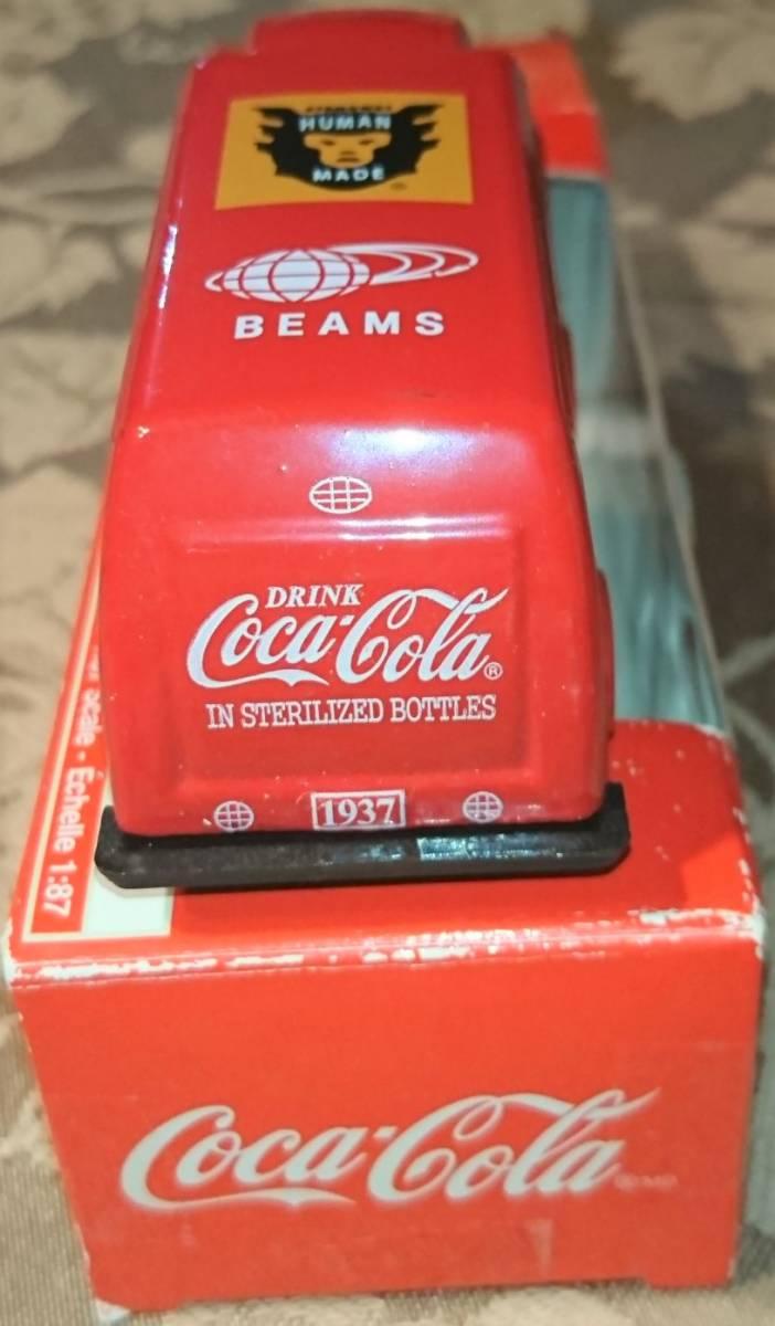 企業ノベルティ NIGO BEAMS HUMAN MADE Coca Cola コカ・コーラ 1937 Bottle Truck 1/87 MOTOR CITY CLASSICS 箱入り未使用保管品 激レア_画像7