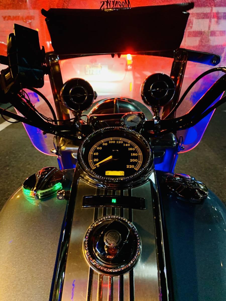 最落無し 2008年モデル ロードキング クラシック オーディオ 安心ABS 爽やかなブルー オートクルーズ機能 FLHRC 車検付 _画像10