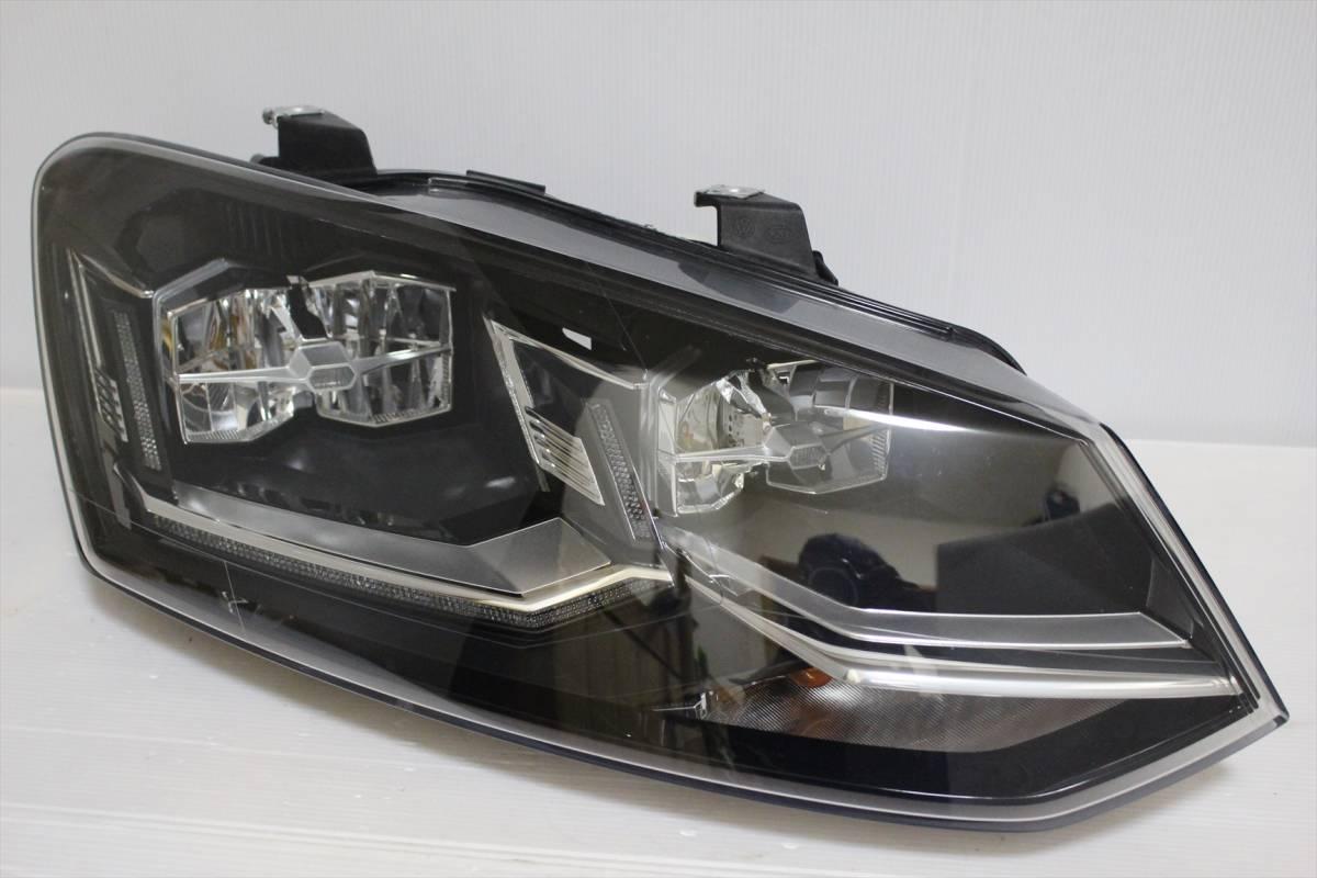 美品!!/割れ欠け無し!! VW POLO/ポロ 6R/6C/6RC 純正 右 LED ヘッドライト 6C2.941.774.B ヘッドランプ 6C2941774_画像1