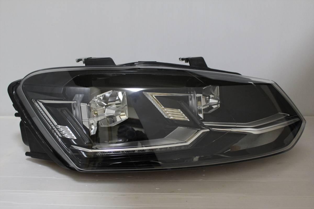 美品!!/割れ欠け無し!! VW POLO/ポロ 6R/6C/6RC 純正 右 LED ヘッドライト 6C2.941.774.B ヘッドランプ 6C2941774_画像3