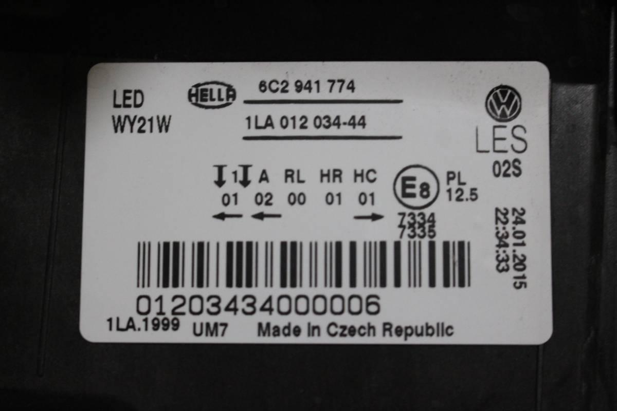 美品!!/割れ欠け無し!! VW POLO/ポロ 6R/6C/6RC 純正 右 LED ヘッドライト 6C2.941.774.B ヘッドランプ 6C2941774_画像10
