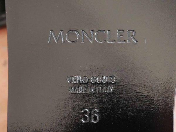 《モンクレール》本革/ロゴのあしらい/,デザインストラップサンダル/dff51_画像6