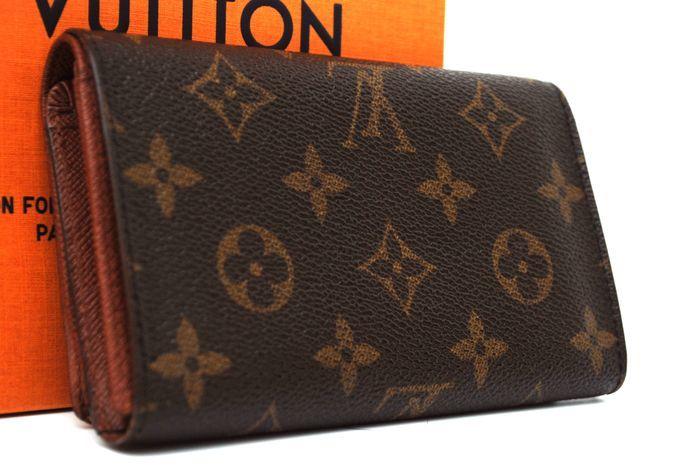 【最落無 極美品】ルイヴィトン Louis Vuitton モノグラム ポルトモネ ビエ トレゾール L字 財布 二つ折り ヴィトン 本物 美品 定価約6万
