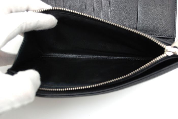 【極美品】ルイヴィトン Louis Vuitton マヒナ ポルトフォイユ アメリア 黒 3つ折り ヴィトン 長財布 レザー レディース 美品 定価約13万円_画像7