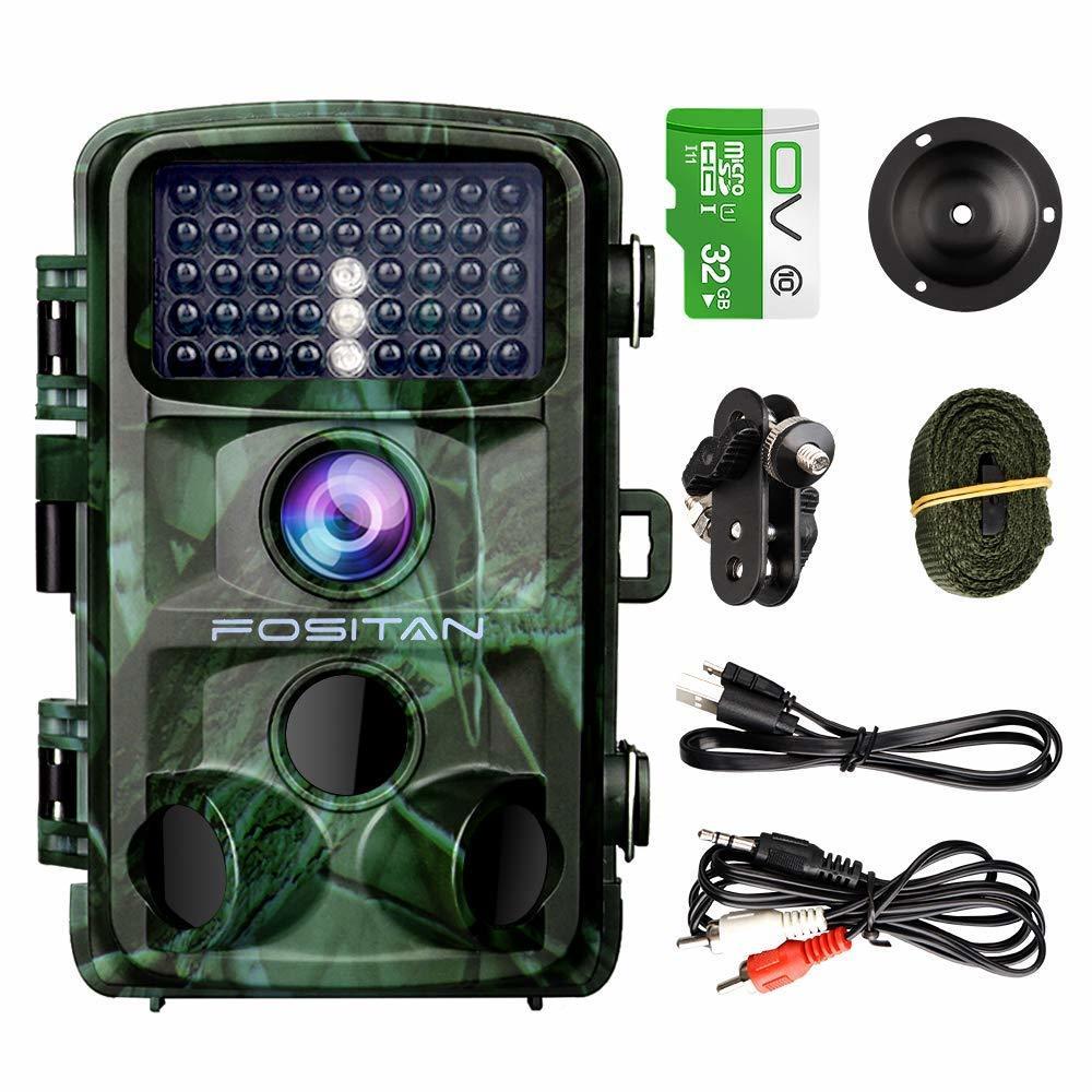 新品 FOSITAN HC-2トレイルカメラ 1400万画素 1080PフルHD 0.2sトリガー時間 パスワード保護機能 42個赤外線LEDライト搭載 IP66防水防塵