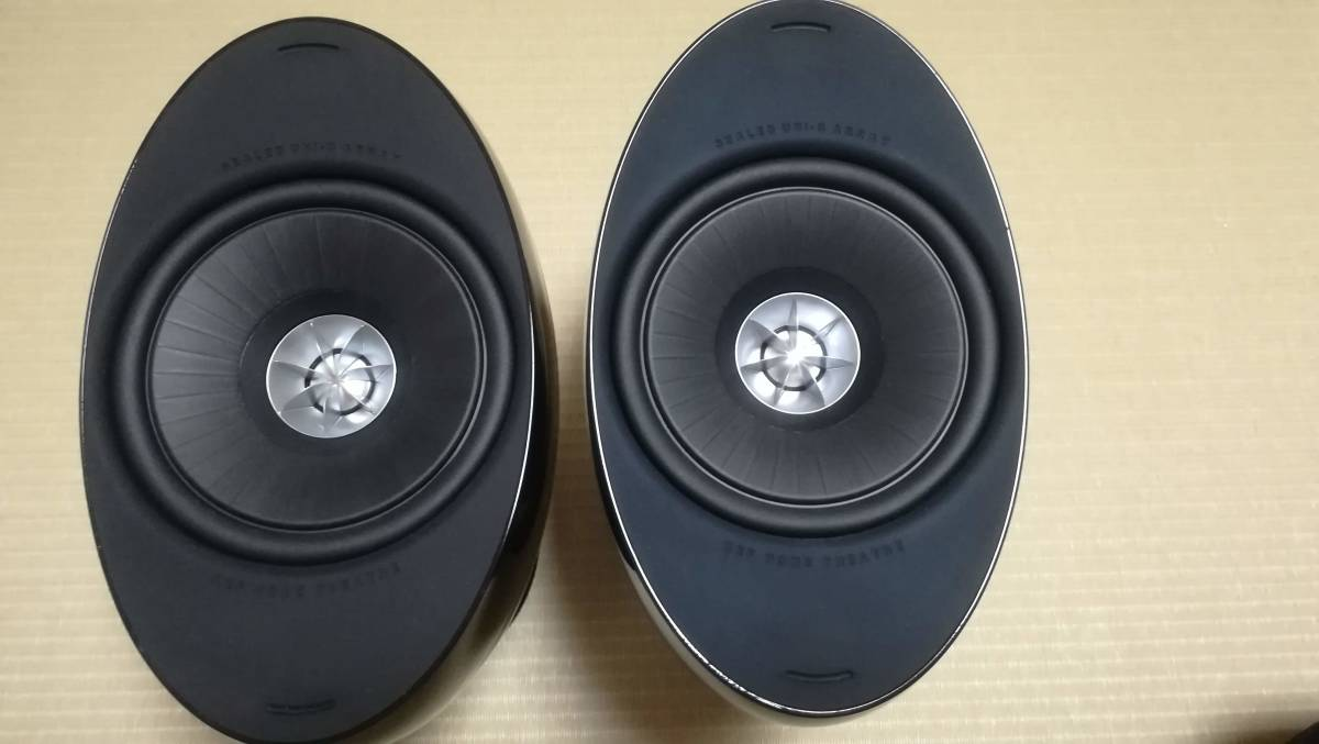 【中古美品】KEF サテライトスピーカー HTS3001SE ピアノブラック ペア_画像2