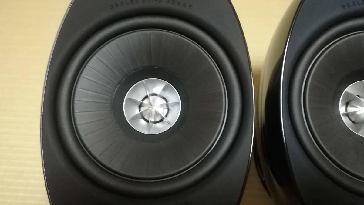 【中古美品】KEF サテライトスピーカー HTS3001SE ピアノブラック ペア_画像3