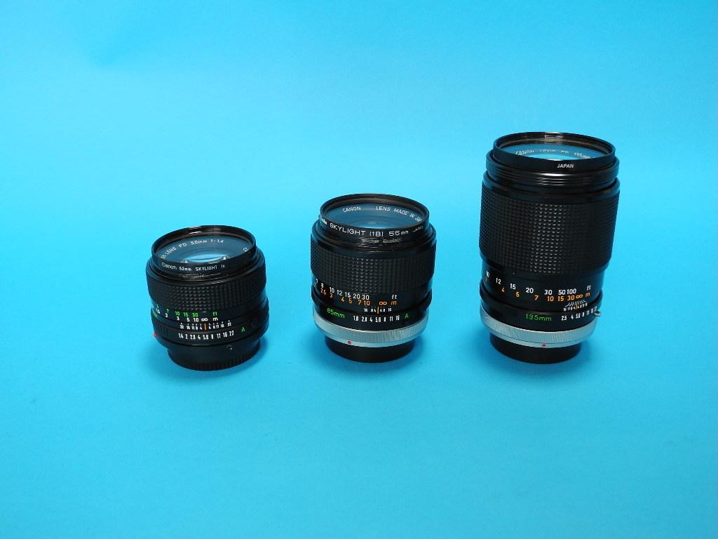 Canon A-1(オーバーホール済み)+交換レンズ3本・他_画像9